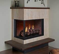 appealing montigo fireplace corner left with wooden frame in wooden floor for home decoration ideas