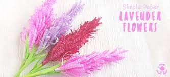 Making Of Flower With Paper How To Make Paper Lavender Flowers Kids Craft Room