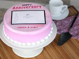 Anniversary Photo Cake 4 Round Shape The Love Frame Cake Bakingo