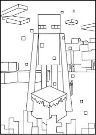 Printable Minecraft Enderman Coloring Pages Minecraft Minecraft