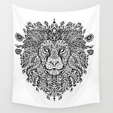 lion mandala wall tapestry