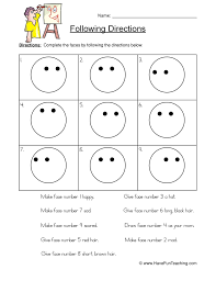 Direction Worksheets | Have Fun Teaching