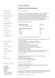Research Resume Samples Cv Template Research Assistant Student Resume Job Resume