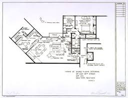 Artists Sketch Floorplan Of Friends Apartments And Other Famous TV Tv House Floor Plans