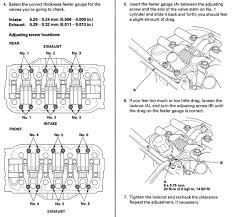 a 125 valve adjustment procedure scans acurazine acura anyways here s the instructions from the 2004 tl service manual