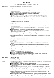 Controls Engineer Sample Resume Automation Controls Engineer Resume Samples Velvet Jobs 17