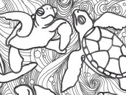 Small Picture Coloring Pages Animals Free Turtle Coloring Pages For Kids