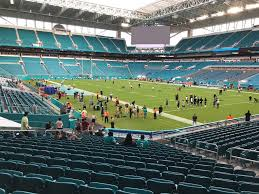 Hard Rock Live Miami Seating Chart Hard Rock Stadium View From Lower Level 110 Vivid Seats