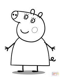 Small Picture Mummy Pig coloring page Free Printable Coloring Pages