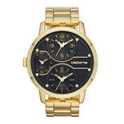 men s watches for jewelry watches jcpenney claiborne® mens gold tone black dial watch