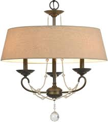 captivating lamp shade chandelier 14 burlap linen bronze crystal pendant light
