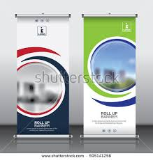 banner design template roll brochure flyer banner design template stock vector 595141256