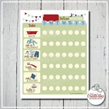 Editable Bedtime Routine Chart Daily Bedtime Printable Routine Or Chore Chart Blue Editable Name Evening Schedule