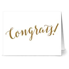 24 Note Cards Glitzy Congrats Kraft Envs