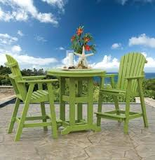 outdoor patio bar table set