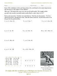 write the quadratic function in standard form calculator math graphing quadratics in vertex form worksheet fill