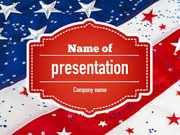 American Flag Powerpoint Festive American Flag Powerpoint Template Backgrounds