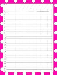 blank grade book template printable free page pages
