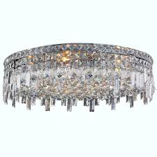 glam lighting. Glam Art Deco Style 9-light Faceted Crystal 24-inch Round Large Flush Mount Extra Ceiling Light - Free Shipping Today Overstock 17323684 Lighting U