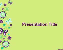 Butterflies Powerpoint Background For Presentations With