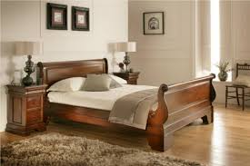 Wood Sleigh Bed Frame | Sleigh Beds | Sleigh Bed Frame