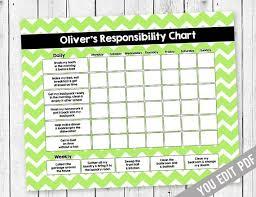 Chore Lists For Teens Chore Chart For Teens Reward Chart Responsibility Chart Allowance Chore Chart Behavior Chart Kids Chore Chart Printable You Edit Pdf