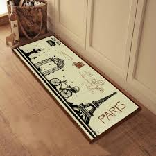 French Country Kitchen Decor with Eifel Tower Printed Doormat, La ...