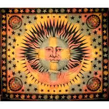 Tie Dye Sun & Moon Tapestry