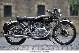 vincent rapide hrd motorbike stock photos old machinery