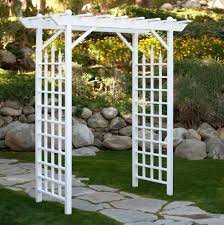 ... Backyard Grape Trellis Arbor Garden Pergola Vinyl Trellis White Wedding  Walkway Pics With Arbor Garden Pergola ...