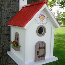 Birdhouse Painted Bird Houses Bird Houses Bird And Birdhouse