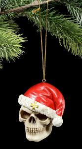 Details Zu Totenkopf Weihnachts Deko Santa Is Dead Schädel Christbaumschmuck Gothic