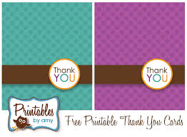 Free Printable Thank You Postcards Free Printable Polka Dot Thank You Cards Living Locurto