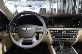 hyundai genesis interior 2014. 2014 hyundai genesis at naias steering interior
