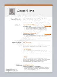 Sample Resume Templates Word Cover Letter Format Document Cv