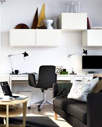 home office style. minimalisthomeofficestylewithsmallspacewhitedeskblackchairwhitestorageandblacksofa dweefcom bright and attractive interior design home office style