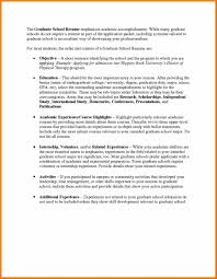 Example Of Resume For Graduate School Examples Of Resumes