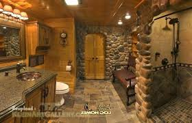 Exceptional Log Home Bathroom Ideas Cabin Bathroom Ideas Log Home Plans Medium Size Log Cabin  Bathroom Ideas .