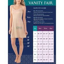 Vanity Fair Slip Size Chart Details About Vanity Fair Womens Full Slip 10141
