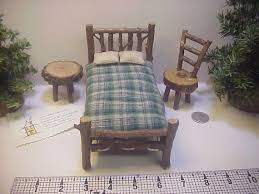 awesome rustic furniture 6. 1 inch scale 6 piece set of rustic miniature dollhouse furniture bed table chair puki bjd dolls awesome s