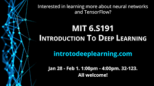 Design And Analysis Of Algorithms Mit Mit 6 S191 Introduction To Deep Learning