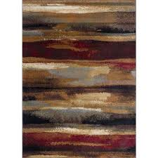 festival multi 8 ft x 10 ft contemporary area rug