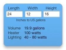 Aquarium Gallons Calculator All About Aquarium Design