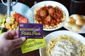 olive garden introduces first of its kind annual pasta pass that extends never ending pasta benefits year round