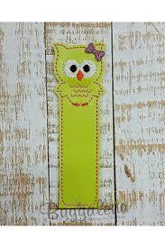 Design Bookmarks Owl Bookmark Embroidery Design