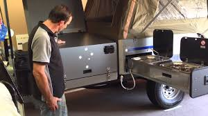 Camper Trailer Kitchen Eureka Camper Trailer Kitchen Youtube