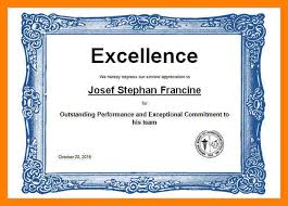 Award Of Excellence Certificate Template 100 award certificates templates word time table chart 21