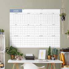 Dry Erase 2020 Minimalist Calendar Combo Design Giant Removable Wall Decal