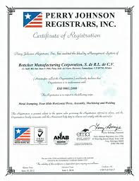 bettcher manufacturing company history certifications certifications