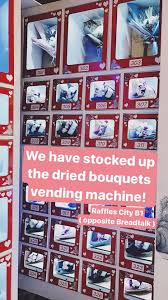 Floral Vending Machine Best You Can Now Buy Dried Bouquets From A Vending Machine At Raffles